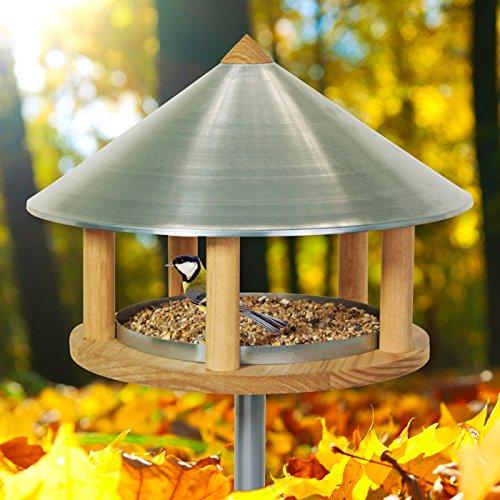 VOSS.garden Vogelhaus Roskilde im Skandinavischen Design Vogelfutterstation Vogelhäuschen Gartenvögel Singvögel Wildvögel füttern Vogelbeobachtung Vogelfutterhaus