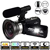 Video Camera 4K Digital Camcorder Video Recorder YouTube Vlogging WiFi Camera 30.0MP Webcam for Live Streaming KOMERY Video Camera 16X Digital Zoom with Remote Control