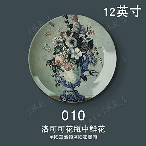 DYUJK 12 Zoll Cézanne Ölgemälde Dekorative Platte Wandbehang Platte Sitzplatte Set Platte...