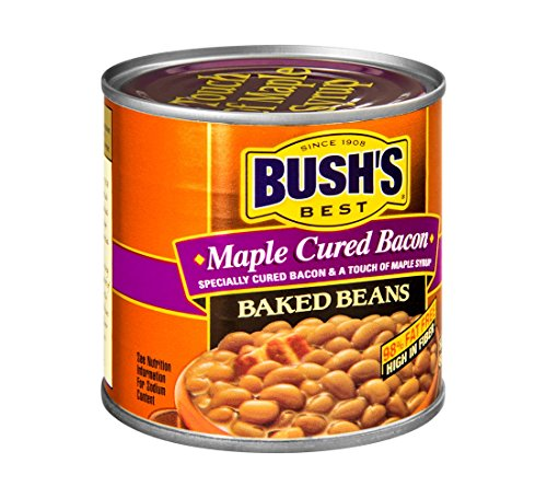 Bush's Best Maple Cured Bacon Baked Beans 16 oz (Pack of 12)