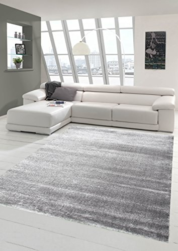 Salon Designer Tapis Contemporain Tapis Moquette avec Uni Design Gris foncé Größe 120x170 cm