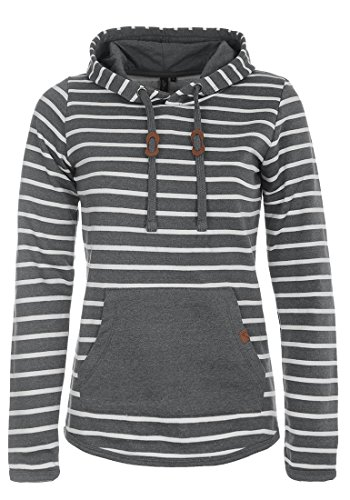 BlendShe Carina Damen Hoodie Kapuzenpullover Pullover Mit Kapuze, Größe:XL, Farbe:Pewter Mix (70817)