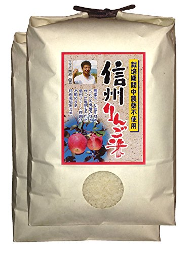 【新米】白米 信州りんご米 こしひかり 9kg(4.5kg×2) 令和2年産
