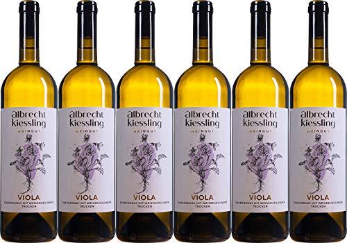 Albrecht-Kiessling VIOLA Chardonnay mit Weißburgunder 2019 Trocken (6 x 0.75 l)