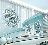 ZXXCV Fondo De Pantalla 3D Espacio Futuro Tecnología Sense Resumen Arquitectura TV Fondo Mural De Pared Papel Pintado En 3D, 250 * 175Cm