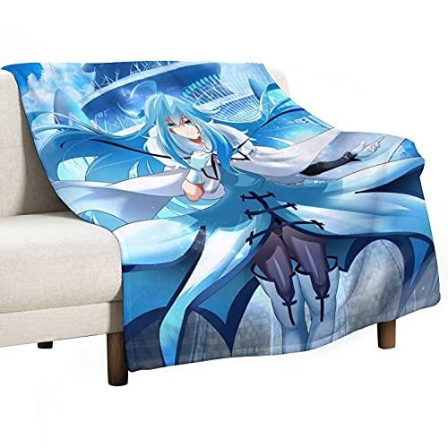UNGGOY Weiche Überwurfdecke Vivy Fluorit in Wpap warme Fleecedecke für Sofa, Couch, Wohnzimmer, 127 x 152 cm