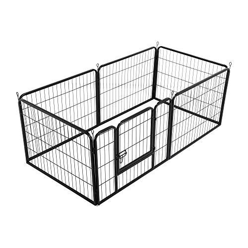 Yaheetech Heavy Duty Dog Pen 6 Panel Pet Playpen for Cat Duck Rabbit Pet Exercise Pen Indoor Outdoor 60cm...