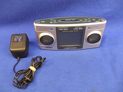 Sharper Image Big Screen Alarm Clock Radio Sound Soother 20 Sleep Therapy