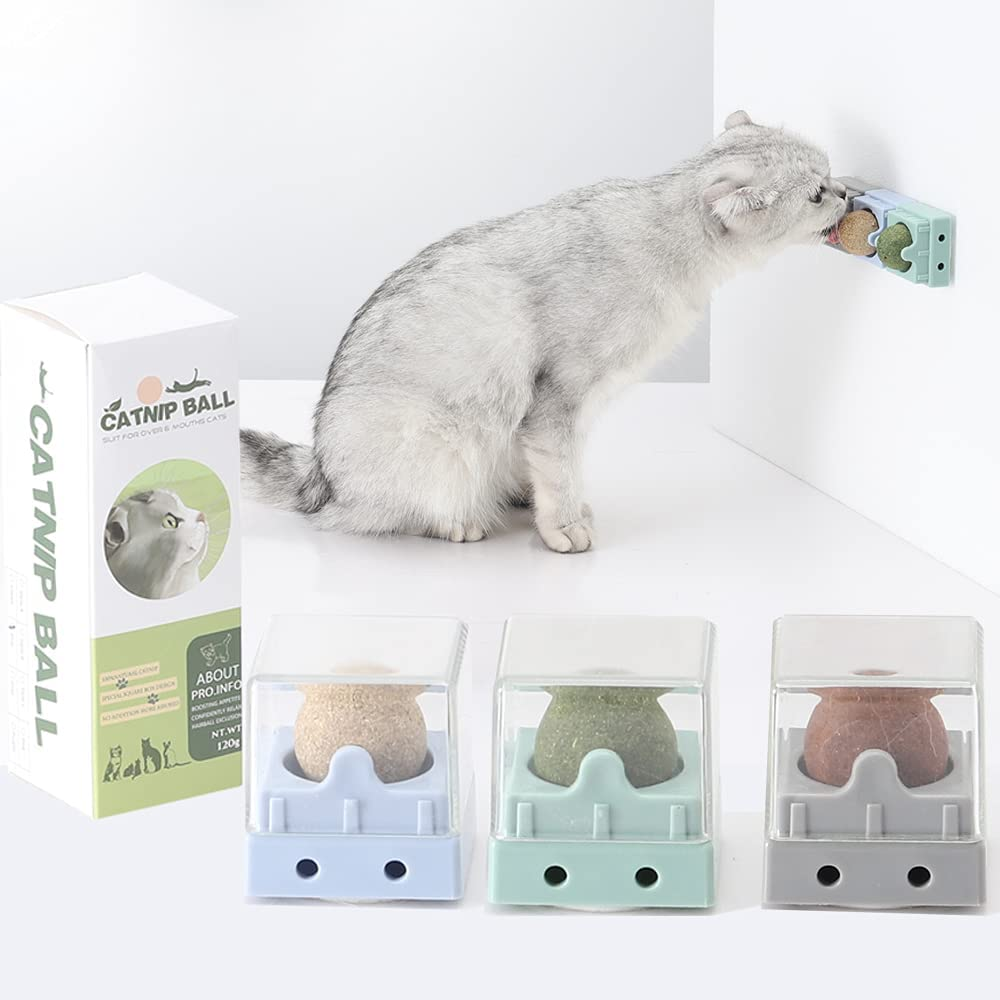 CJPET Catnip Balls Edible Kitty Cats Finally resale start Health Popularity Toys Lick for