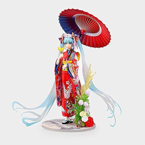 Hatsune Miku altura 23 cm PVC Figura  Alias: Miku  Disfraz antiguo Ver  DIVA: Decoraciones de escritorio de computadora Regalos para los amantes de los fans de anime, modelo de escultura de persona