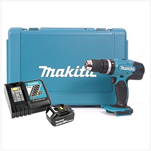 Makita DHP 453 RF - Taladro atornillador inalámbrico (18 V, 42 Nm, incluye maletín, batería de 3 Ah y cargador)