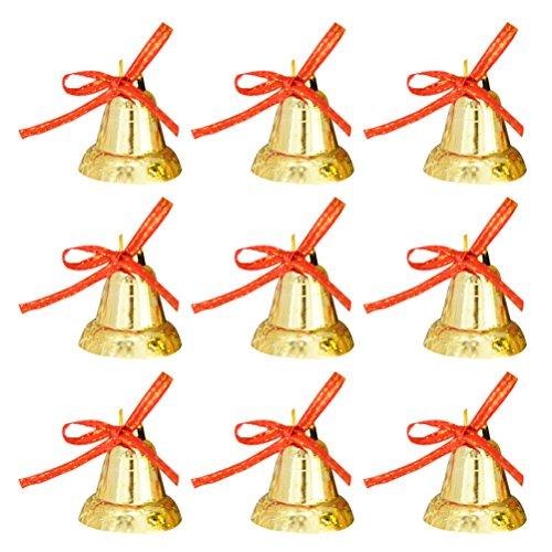 ROSENICE 9pcs Campana de árbol de Navidad para decoración de Navidad