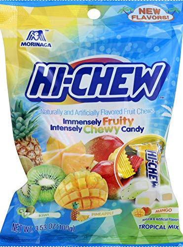 Morinaga Hi-Chew Tropical Mix Flavoured Fruit Chews 100g