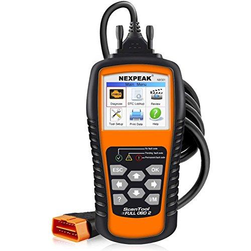 NEXPEAK OBD2 Diagnostic Scanner, OBDII NX501 Vehicle Fault Code Reader,...