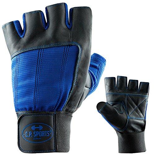 C.P. Sports Bandagen-Handschuh Leder XL/10 = 22-24cm blau