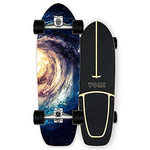 Carving skateboard Surfskate Monopatín Pumpping surf simulado CX4, Arce Tablero Completa 78×24cm