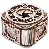 オルゴール 大人の子供時代の3D木製のパズルメカニカルオルゴールDIY回転アセンブリワインドアップオルゴール頭の体操14+ 贈り物 (Color : G)