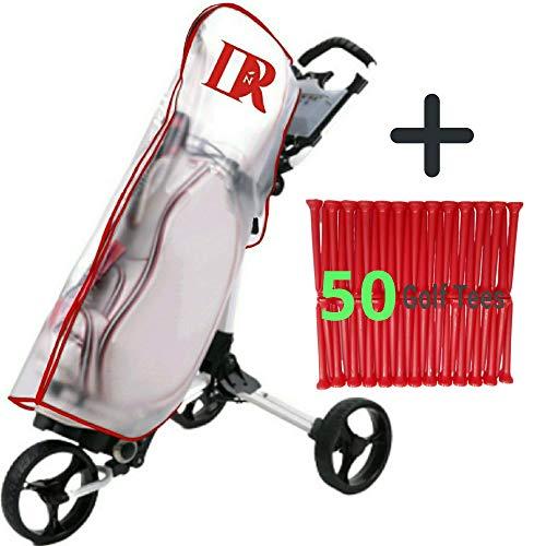 DNR USA Golf Bag Rain Cover for Cart, Clear PVC...