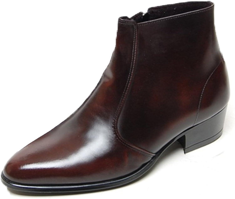 EpicStep herrar Genuine Cow läder Dress Dress Dress skor Formal Casual Zipper Ankle stövlar  välkommen att köpa