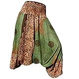 PANASIAM Aladin Pants, Mandala 1, Olive Green L