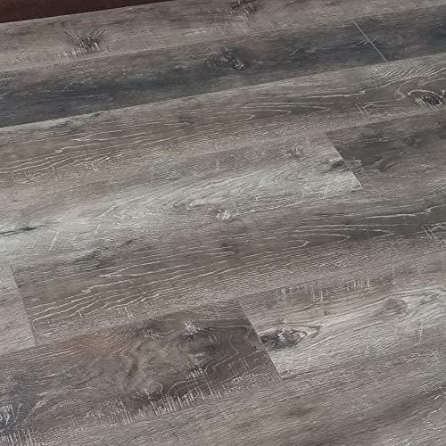 Turtle Bay Floors Waterproof Click WPC Flooring - Rustic Sawn Hardwood-Look Floating Floor - Choose from 2 Colors (Sample, Cottage)