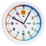 Aniclock Reloj de Pared, facil de Leer, Ideal para Chicos Chicas Que Quieren Aprender a Decir la Hora