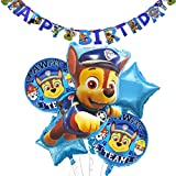 WENTS Paw Patrol Geburtstag Dekoration Set Kompakt Happy Birthday Deko Bunte Luftballon Paw Patrol für Kinder