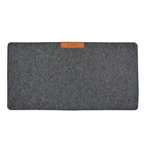NTMY Multifunktions-Computer-Schreibtisch-Matten-Filz-Mausunterlage Vervollkommnen Sie für Büro und Haus, 25.5 * 13 Zoll(dunkelgrau)