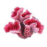 Ueetek Planta artificial de coral para acuario, plantas submarinas, decoración (rojo)