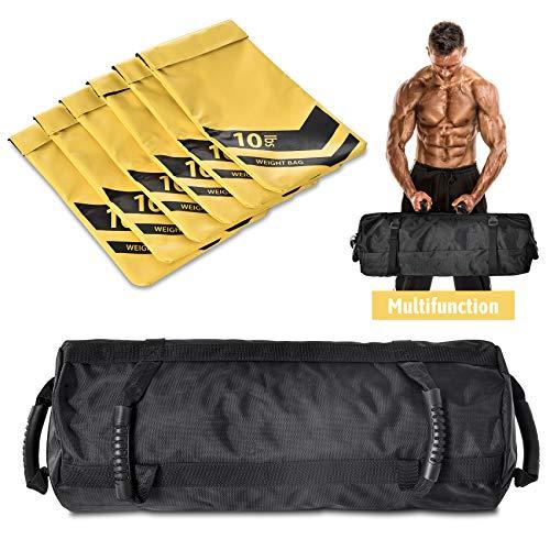 NBJStar Adjustable Workout Fitness Sandbag with 6 Filler Bags 10 to 60 Lbs (Camo(Upgrade)