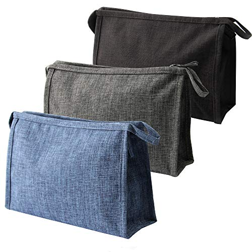 3 Pack Multi-Purpose Zipper Handbag Pouch Organizer Bag For Travel, Toiletries,Cosmetics, Make...