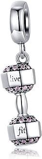 Charm in argento Sterling 925 per braccialetto europeo, in argento Sterling 925, con palloncino a forma di cuore, per raga...