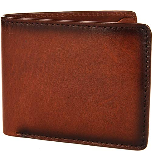 Loxwood - Portafoglio americano in pelle liscia Chesnut taglia unica