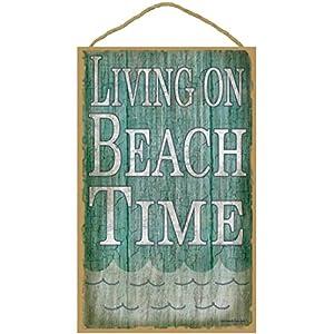 51i8p5PotKL._SS300_ Wooden Beach Signs & Coastal Wood Signs