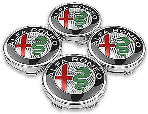4 Piezas Coche Tapacubos, para Alfa Romeo Mito 147 156 159 166 56mm 60mm Auto Protección Accesorios Prueba Polvo Impermeable Tapacubos