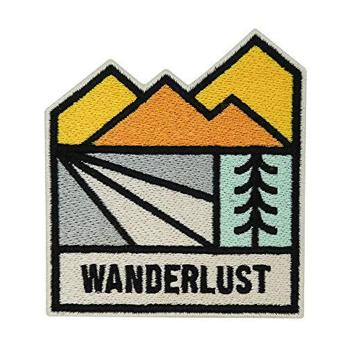 Finally Home Adventure Collection: Wanderlust Bäume & Berge Patch zum Aufbügeln | Wandern Outdoor Patches, Bügelflicken, Flicken, Aufnäher auch geeignet für Rucksäcke