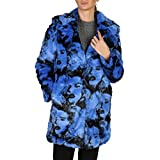 GUESS Women's Pia Graphic Faux-Fur Coat