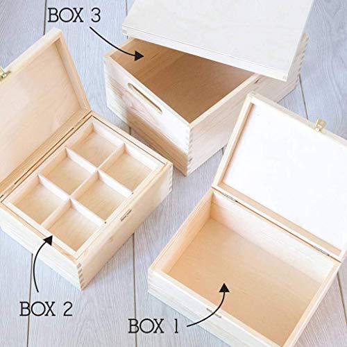 Erinnerungsbox Baby Mädchen personalisiert, Geschenk für Taufe Mädchen, Patenkind Geschenk, Babys erstes Weihnachten - 4