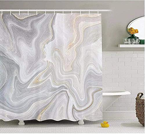 Marmor schwarzer Granit Marmorierung Textur weiß grau Muster Blaue Tinte flüssig sandbraun Badezimmer Duschvorhänge mit Haken