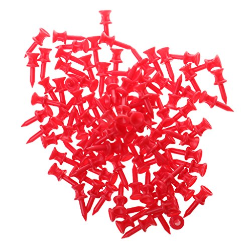 Generic - Golftees in Rot, Größe 32mm