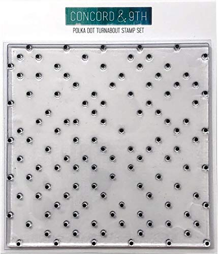 Concord & 9th Polka Dot Turnabout Clear Stamps 6'X6'