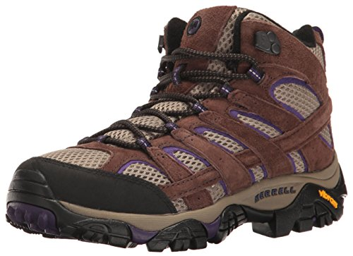 Merrell Women's Moab 2 Vent Mid Hiking Boot, Bracken/Purple, 7.5 M US