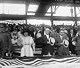 Image of 1919 photo Pres. Wilson at Army & Navy ball game, 1919 Vintage Black & White b5
