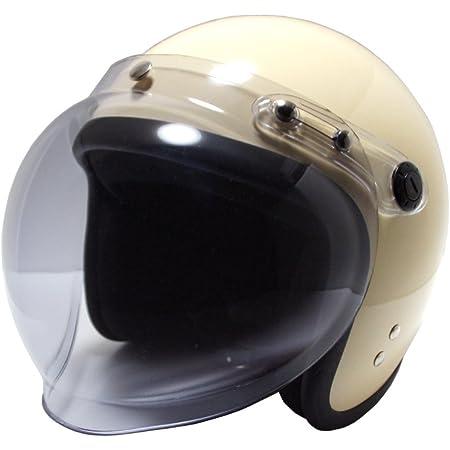 [ビーアンドビー] バイク用 ジェットヘルメット バブルシールド標準装備 SGマーク適合品 アイボリー フリーサイズ BB-004