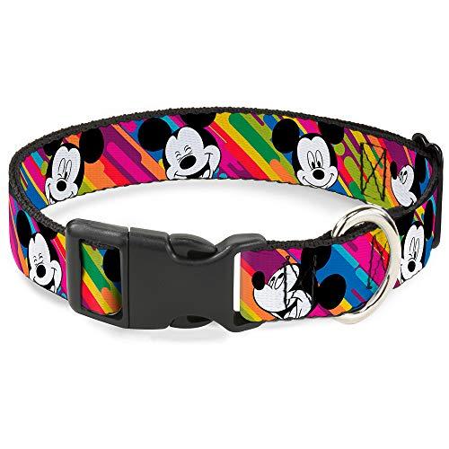 Buckle Down Mickey Mouse Expressions Multicolor Blanco/Negro Plástico Clip Collar