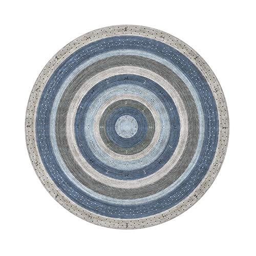 Alfombrilla De Silla para Alfombra, Alfombrilla Redonda para El Suelo Protección De Suelo Duro para El Hogar Alfombrilla Antideslizante para Silla para Oficina, Hogar,(Size:120cm/47.2in,Color:mi)