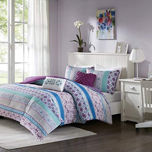 Merveilleux Intelligent Design Joni Comforter Set Full/Queen Size   Purple, Blue,  Bohemian Pattern