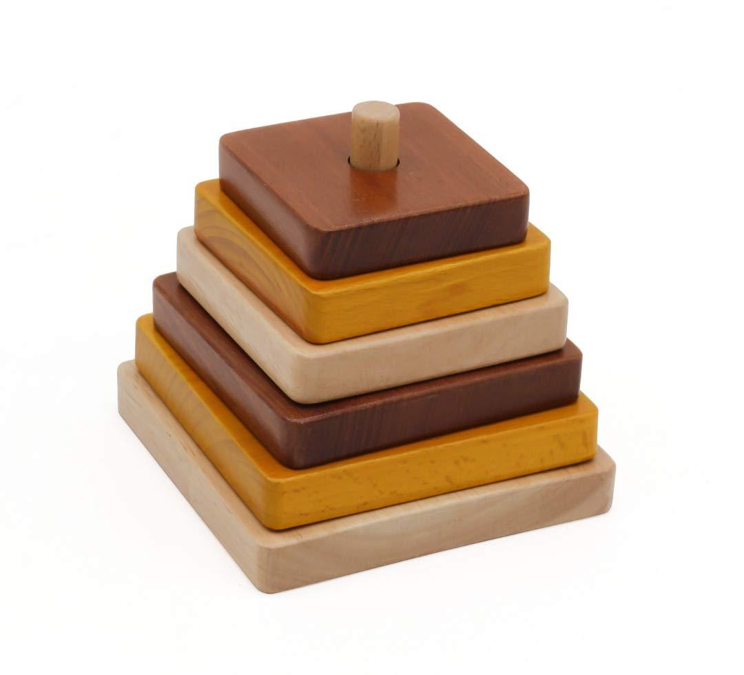 Apilar y Encajar apilables Bebe Aprender encajables Formas geometricas Madera Montessori Puzzle ninos Madera Natural Manualidades educativos 1 años: Amazon.es: Juguetes y juegos