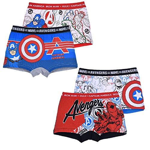Marvel Avengers Jungen Boxershorts 4er Pack (Farbmix 1, 116-128)