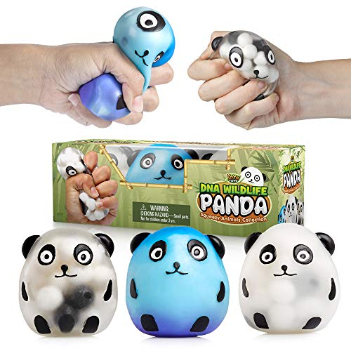 YoYa Toys DNA Wildlife Panda Stress Ball 3-Pack - Stimulating, Calming...